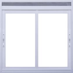 Imagem do produto Janela de Correr 2 folhas com ventilação permanente em tela na bandeira fixa