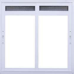 Imagens do produto Janela de Correr 2 folhas com ventilação permanente em tela na folha (bandeira móvel)