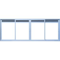 Imagem do produto Janela de Correr 4 folhas com ventilação permanente em tela na folha (bandeira móvel)