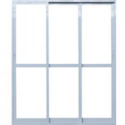 Imagens do produto Porta de Correr 3 Folhas Sequenciais com vidro temperado 6mm.