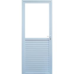 Imagens do produto Porta de Giro Metade Veneziana e Metade Vidro Temperado 6mm.
